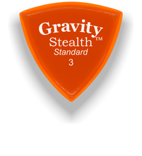 Load image into Gallery viewer, Stealth Standard 3.0mm Orange Acrylic Guitar Pick Handmade Custom Best Acoustic Mandolin Electric Ukulele Bass Plectrum Bright Loud Faster Speed