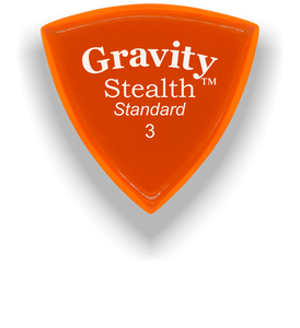 Stealth Standard 3.0mm Orange Acrylic Guitar Pick Handmade Custom Best Acoustic Mandolin Electric Ukulele Bass Plectrum Bright Loud Faster Speed