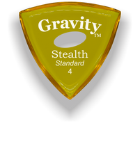 Load image into Gallery viewer, Stealth Standard 4.0mm Yellow Elipse Grip Acrylic Guitar Pick Handmade Custom Best Acoustic Mandolin Electric Ukulele Bass Plectrum Bright Loud Faster Speed