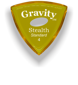 Stealth Standard 4.0mm Yellow Elipse Grip Acrylic Guitar Pick Handmade Custom Best Acoustic Mandolin Electric Ukulele Bass Plectrum Bright Loud Faster Speed