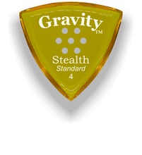 Load image into Gallery viewer, Stealth Standard 4.0mm Yellow Multi-Hole Grip Acrylic Guitar Pick Handmade Custom Best Acoustic Mandolin Electric Ukulele Bass Plectrum Bright Loud Faster Speed