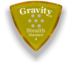 Stealth Standard 4.0mm Yellow Multi-Hole Grip Acrylic Guitar Pick Handmade Custom Best Acoustic Mandolin Electric Ukulele Bass Plectrum Bright Loud Faster Speed