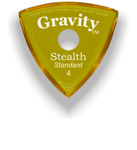 Load image into Gallery viewer, Stealth Standard 4.0mm Yellow Single Round Grip Acrylic Guitar Pick Handmade Custom Best Acoustic Mandolin Electric Ukulele Bass Plectrum Bright Loud Faster Speed