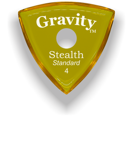 Stealth Standard 4.0mm Yellow Single Round Grip Acrylic Guitar Pick Handmade Custom Best Acoustic Mandolin Electric Ukulele Bass Plectrum Bright Loud Faster Speed