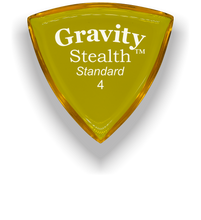 Load image into Gallery viewer, Stealth Standard 4.0mm Yellow Acrylic Guitar Pick Handmade Custom Best Acoustic Mandolin Electric Ukulele Bass Plectrum Bright Loud Faster Speed