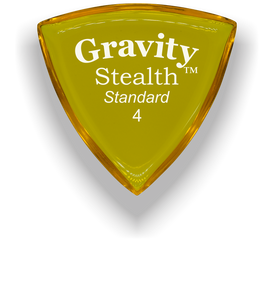 Stealth Standard 4.0mm Yellow Acrylic Guitar Pick Handmade Custom Best Acoustic Mandolin Electric Ukulele Bass Plectrum Bright Loud Faster Speed