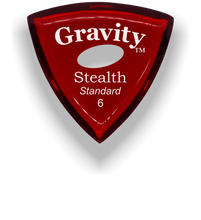 Load image into Gallery viewer, Stealth Standard 6.0mm Red Elipse Grip Acrylic Guitar Pick Handmade Custom Best Acoustic Mandolin Electric Ukulele Bass Plectrum Bright Loud Faster Speed