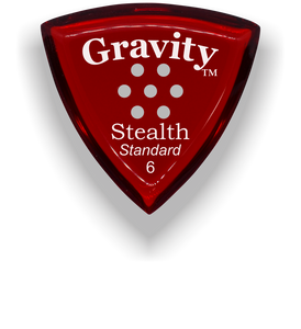 Stealth Standard 6.0mm Red Multi-Hole Grip Acrylic Guitar Pick Handmade Custom Best Acoustic Mandolin Electric Ukulele Bass Plectrum Bright Loud Faster Speed