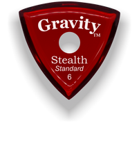 Load image into Gallery viewer, Stealth Standard 6.0mm Red Single Round Grip Acrylic Guitar Pick Handmade Custom Best Acoustic Mandolin Electric Ukulele Bass Plectrum Bright Loud Faster Speed