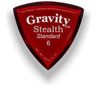 Load image into Gallery viewer, Stealth Standard 6.0mm Red Acrylic Guitar Pick Handmade Custom Best Acoustic Mandolin Electric Ukulele Bass Plectrum Bright Loud Faster Speed
