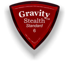 Stealth Standard 6.0mm Red Acrylic Guitar Pick Handmade Custom Best Acoustic Mandolin Electric Ukulele Bass Plectrum Bright Loud Faster Speed