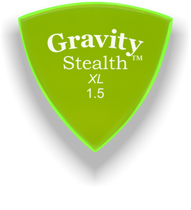 Stealth XL 1.5mm Fluorescent Green Acrylic Guitar Pick Handmade Custom Best Acoustic Mandolin Electric Ukulele Bass Plectrum Bright Loud Faster Speed
