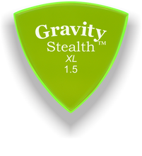 Load image into Gallery viewer, Stealth XL 1.5mm Fluorescent Green Acrylic Guitar Pick Handmade Custom Best Acoustic Mandolin Electric Ukulele Bass Plectrum Bright Loud Faster Speed