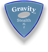 Load image into Gallery viewer, Stealth XL 2.0mm Blue Elipse Grip Acrylic Guitar Pick Handmade Custom Best Acoustic Mandolin Electric Ukulele Bass Plectrum Bright Loud Faster Speed