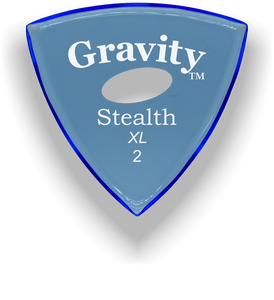 Stealth XL 2.0mm Blue Elipse Grip Acrylic Guitar Pick Handmade Custom Best Acoustic Mandolin Electric Ukulele Bass Plectrum Bright Loud Faster Speed