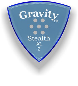 Stealth XL 2.0mm Blue Multi-Hole Grip Acrylic Guitar Pick Handmade Custom Best Acoustic Mandolin Electric Ukulele Bass Plectrum Bright Loud Faster Speed