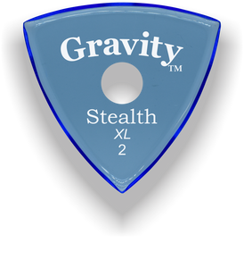 Stealth XL 2.0mm Blue Single Round Grip Acrylic Guitar Pick Handmade Custom Best Acoustic Mandolin Electric Ukulele Bass Plectrum Bright Loud Faster Speed