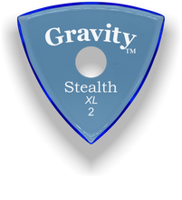 Load image into Gallery viewer, Stealth XL 2.0mm Blue Single Round Grip Acrylic Guitar Pick Handmade Custom Best Acoustic Mandolin Electric Ukulele Bass Plectrum Bright Loud Faster Speed