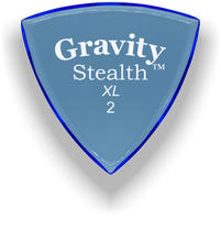 Load image into Gallery viewer, Stealth XL 2.0mm Blue Acrylic Guitar Pick Handmade Custom Best Acoustic Mandolin Electric Ukulele Bass Plectrum Bright Loud Faster Speed