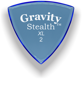 Stealth XL 2.0mm Blue Acrylic Guitar Pick Handmade Custom Best Acoustic Mandolin Electric Ukulele Bass Plectrum Bright Loud Faster Speed