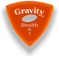 Load image into Gallery viewer, Stealth XL 3.0mm Orange Elipse Grip Acrylic Guitar Pick Handmade Custom Best Acoustic Mandolin Electric Ukulele Bass Plectrum Bright Loud Faster Speed