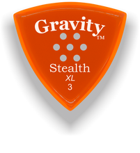 Load image into Gallery viewer, Stealth XL 3.0mm Orange Multi-Hole Grip Acrylic Guitar Pick Handmade Custom Best Acoustic Mandolin Electric Ukulele Bass Plectrum Bright Loud Faster Speed