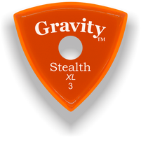 Load image into Gallery viewer, Stealth XL 3.0mm Orange Single Round Grip Acrylic Guitar Pick Handmade Custom Best Acoustic Mandolin Electric Ukulele Bass Plectrum Bright Loud Faster Speed