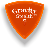 Load image into Gallery viewer, Stealth XL 3.0mm Orange Acrylic Guitar Pick Handmade Custom Best Acoustic Mandolin Electric Ukulele Bass Plectrum Bright Loud Faster Speed