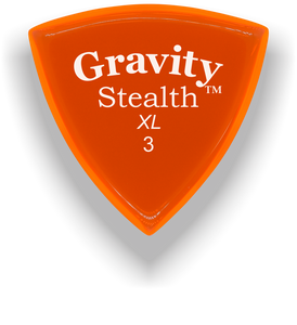 Stealth XL 3.0mm Orange Acrylic Guitar Pick Handmade Custom Best Acoustic Mandolin Electric Ukulele Bass Plectrum Bright Loud Faster Speed