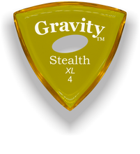 Load image into Gallery viewer, Stealth XL 4.0mm Yellow Elipse Grip Acrylic Guitar Pick Handmade Custom Best Acoustic Mandolin Electric Ukulele Bass Plectrum Bright Loud Faster Speed