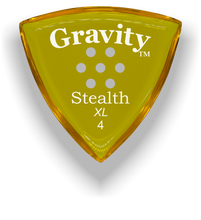 Load image into Gallery viewer, Stealth XL 4.0mm Yellow Multi-Hole Grip Acrylic Guitar Pick Handmade Custom Best Acoustic Mandolin Electric Ukulele Bass Plectrum Bright Loud Faster Speed