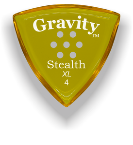 Stealth XL 4.0mm Yellow Multi-Hole Grip Acrylic Guitar Pick Handmade Custom Best Acoustic Mandolin Electric Ukulele Bass Plectrum Bright Loud Faster Speed