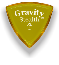 Load image into Gallery viewer, Stealth XL 4.0mm Yellow Acrylic Guitar Pick Handmade Custom Best Acoustic Mandolin Electric Ukulele Bass Plectrum Bright Loud Faster Speed