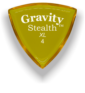 Stealth XL 4.0mm Yellow Acrylic Guitar Pick Handmade Custom Best Acoustic Mandolin Electric Ukulele Bass Plectrum Bright Loud Faster Speed