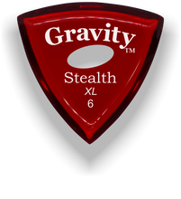 Load image into Gallery viewer, Stealth XL 6.0mm Red Elipse Grip Acrylic Guitar Pick Handmade Custom Best Acoustic Mandolin Electric Ukulele Bass Plectrum Bright Loud Faster Speed