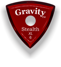 Load image into Gallery viewer, Stealth XL 6.0mm Red Single Round Grip Acrylic Guitar Pick Handmade Custom Best Acoustic Mandolin Electric Ukulele Bass Plectrum Bright Loud Faster Speed