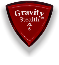 Load image into Gallery viewer, Stealth XL 6.0mm Red Acrylic Guitar Pick Handmade Custom Best Acoustic Mandolin Electric Ukulele Bass Plectrum Bright Loud Faster Speed