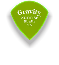 Load image into Gallery viewer, Sunrise Big Mini 1.5mm Fluorescent Green Acrylic Guitar Pick Handmade Custom Best Acoustic Mandolin Electric Ukulele Bass Plectrum Bright Loud Faster Speed