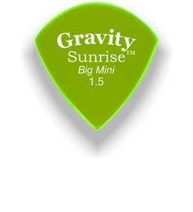 Sunrise Big Mini 1.5mm Fluorescent Green Acrylic Guitar Pick Handmade Custom Best Acoustic Mandolin Electric Ukulele Bass Plectrum Bright Loud Faster Speed