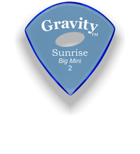 Load image into Gallery viewer, Sunrise Big Mini 2.0mm Blue Elipse Grip Acrylic Guitar Pick Handmade Custom Best Acoustic Mandolin Electric Ukulele Bass Plectrum Bright Loud Faster Speed