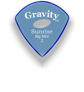 Sunrise Big Mini 2.0mm Blue Elipse Grip Acrylic Guitar Pick Handmade Custom Best Acoustic Mandolin Electric Ukulele Bass Plectrum Bright Loud Faster Speed