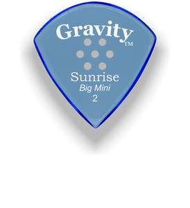 Sunrise Big Mini 2.0mm Blue Multi-Hole Grip Acrylic Guitar Pick Handmade Custom Best Acoustic Mandolin Electric Ukulele Bass Plectrum Bright Loud Faster Speed