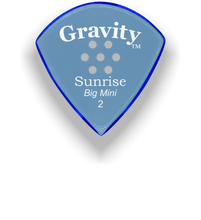 Load image into Gallery viewer, Sunrise Big Mini 2.0mm Blue Multi-Hole Grip Acrylic Guitar Pick Handmade Custom Best Acoustic Mandolin Electric Ukulele Bass Plectrum Bright Loud Faster Speed