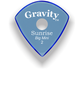 Sunrise Big Mini 2.0mm Blue Single Round Grip Acrylic Guitar Pick Handmade Custom Best Acoustic Mandolin Electric Ukulele Bass Plectrum Bright Loud Faster Speed