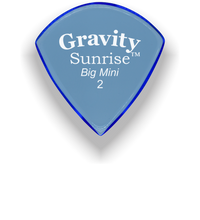 Load image into Gallery viewer, Sunrise Big Mini 2.0mm Blue Acrylic Guitar Pick Handmade Custom Best Acoustic Mandolin Electric Ukulele Bass Plectrum Bright Loud Faster Speed