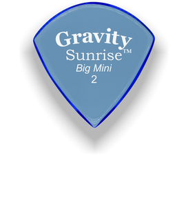 Sunrise Big Mini 2.0mm Blue Acrylic Guitar Pick Handmade Custom Best Acoustic Mandolin Electric Ukulele Bass Plectrum Bright Loud Faster Speed