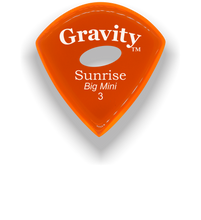 Load image into Gallery viewer, Sunrise Big Mini 3.0mm Orange Elipse Grip Acrylic Guitar Pick Handmade Custom Best Acoustic Mandolin Electric Ukulele Bass Plectrum Bright Loud Faster Speed