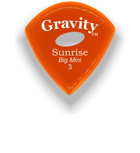 Sunrise Big Mini 3.0mm Orange Elipse Grip Acrylic Guitar Pick Handmade Custom Best Acoustic Mandolin Electric Ukulele Bass Plectrum Bright Loud Faster Speed
