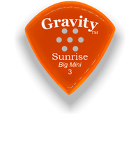 Load image into Gallery viewer, Sunrise Big Mini 3.0mm Orange Multi-Hole Grip Acrylic Guitar Pick Handmade Custom Best Acoustic Mandolin Electric Ukulele Bass Plectrum Bright Loud Faster Speed