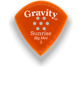 Sunrise Big Mini 3.0mm Orange Multi-Hole Grip Acrylic Guitar Pick Handmade Custom Best Acoustic Mandolin Electric Ukulele Bass Plectrum Bright Loud Faster Speed